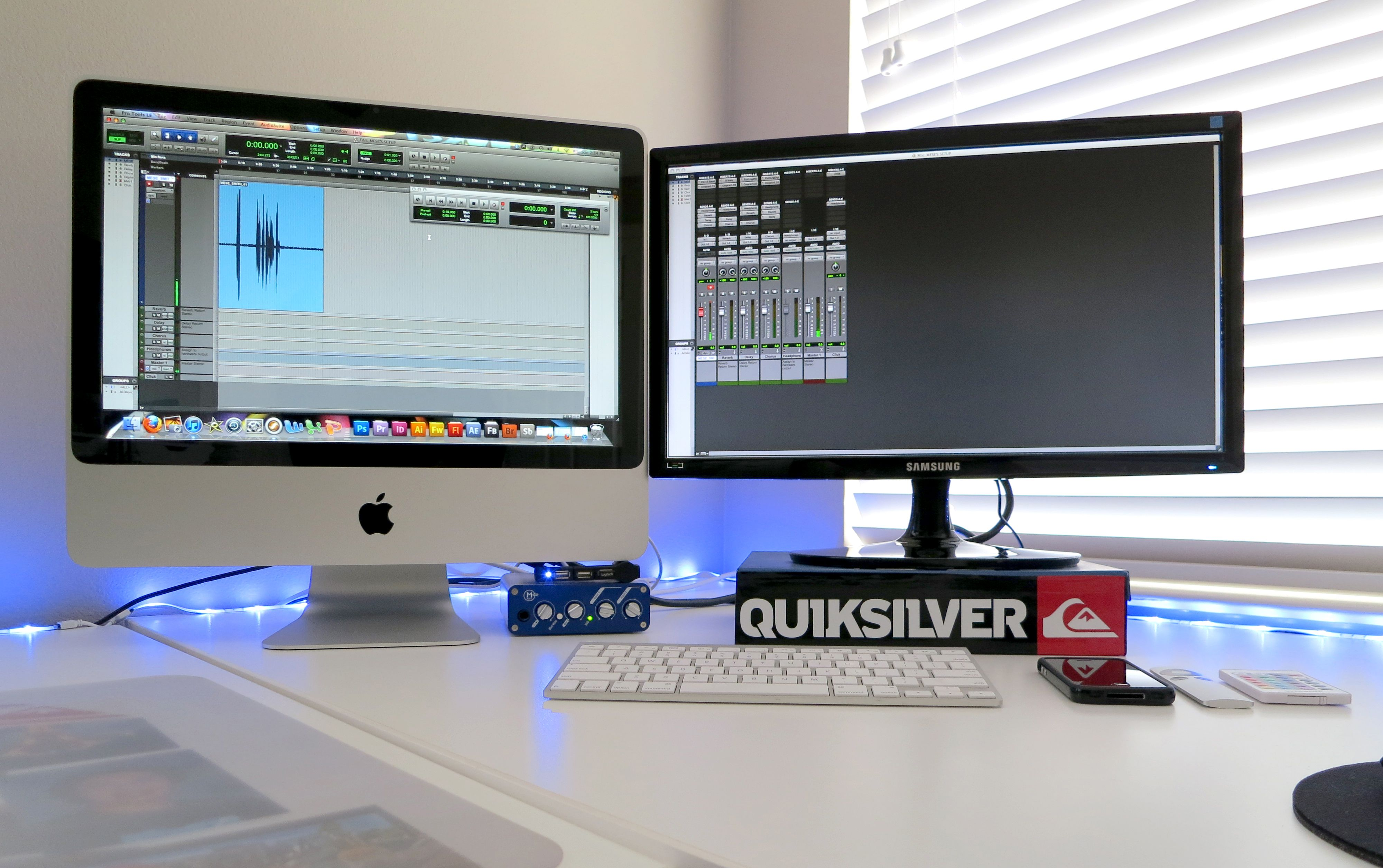 iMac and a little Prol Tools 8 action! OH YEAH! (Home studio