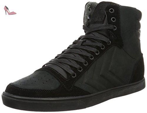 Hummel Slimmer Stadil Mono Oiled High, Sneakers Hautes Mixte Adulte, (Black), 42 EU