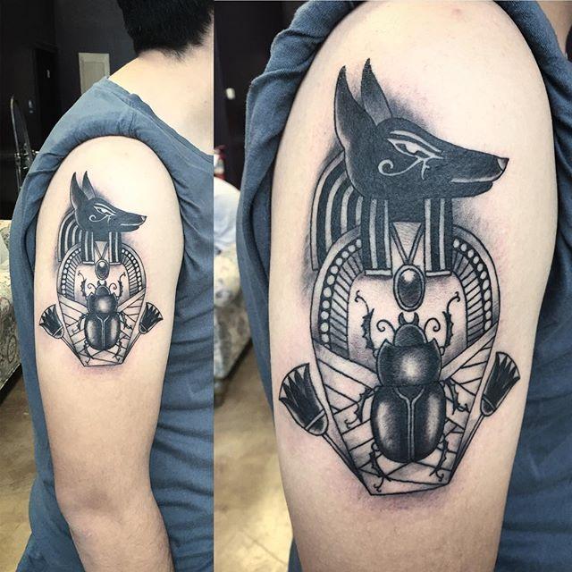 16 Symbolic Anubis Tattoos Tattoo Inspiration Pinterest