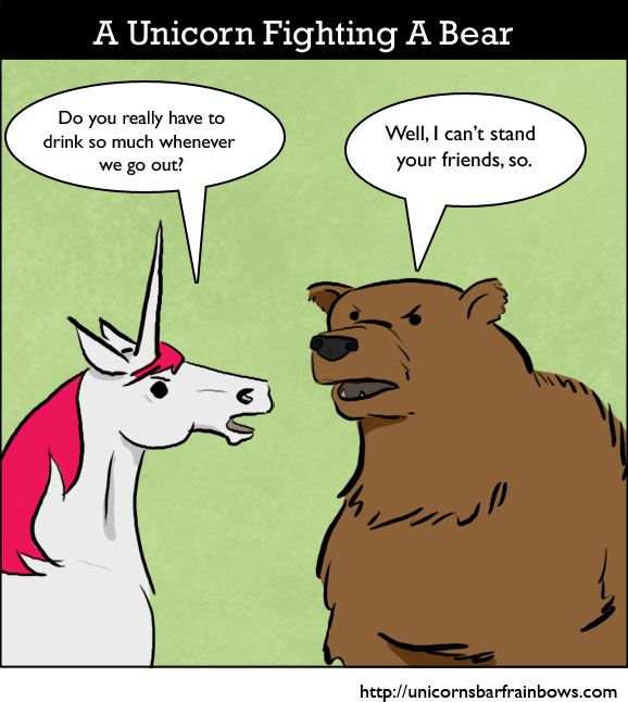 Funny unicorn pictures: Unicorn Fighting A Bear | Funny ...