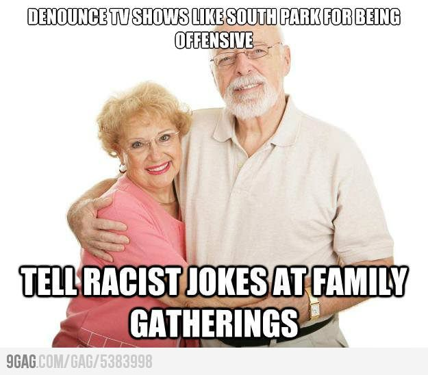 Grandparents always have double standards.