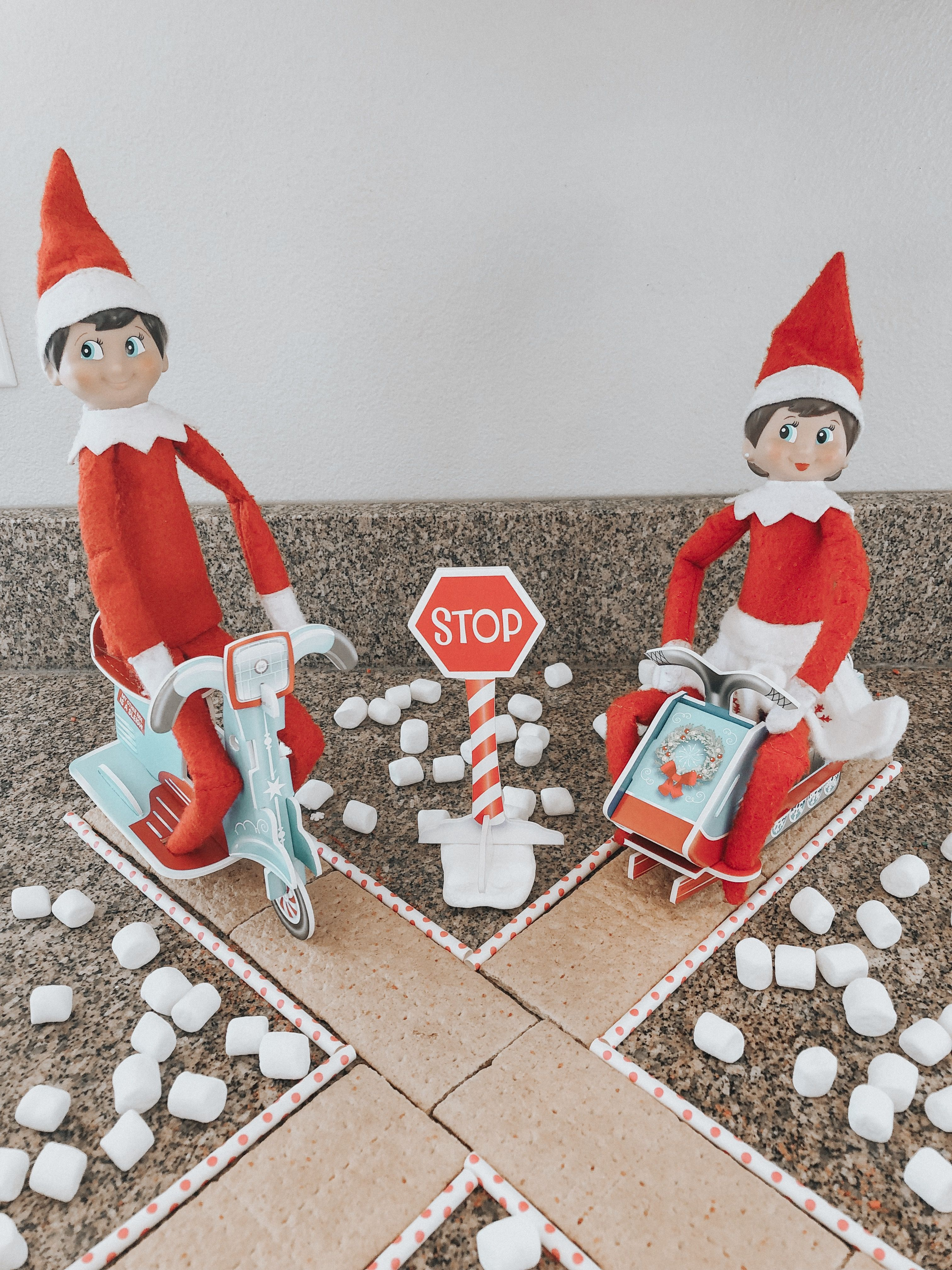 James & Holly | Candy Cane Crossing in 2020 | Elf antics, Elf pets