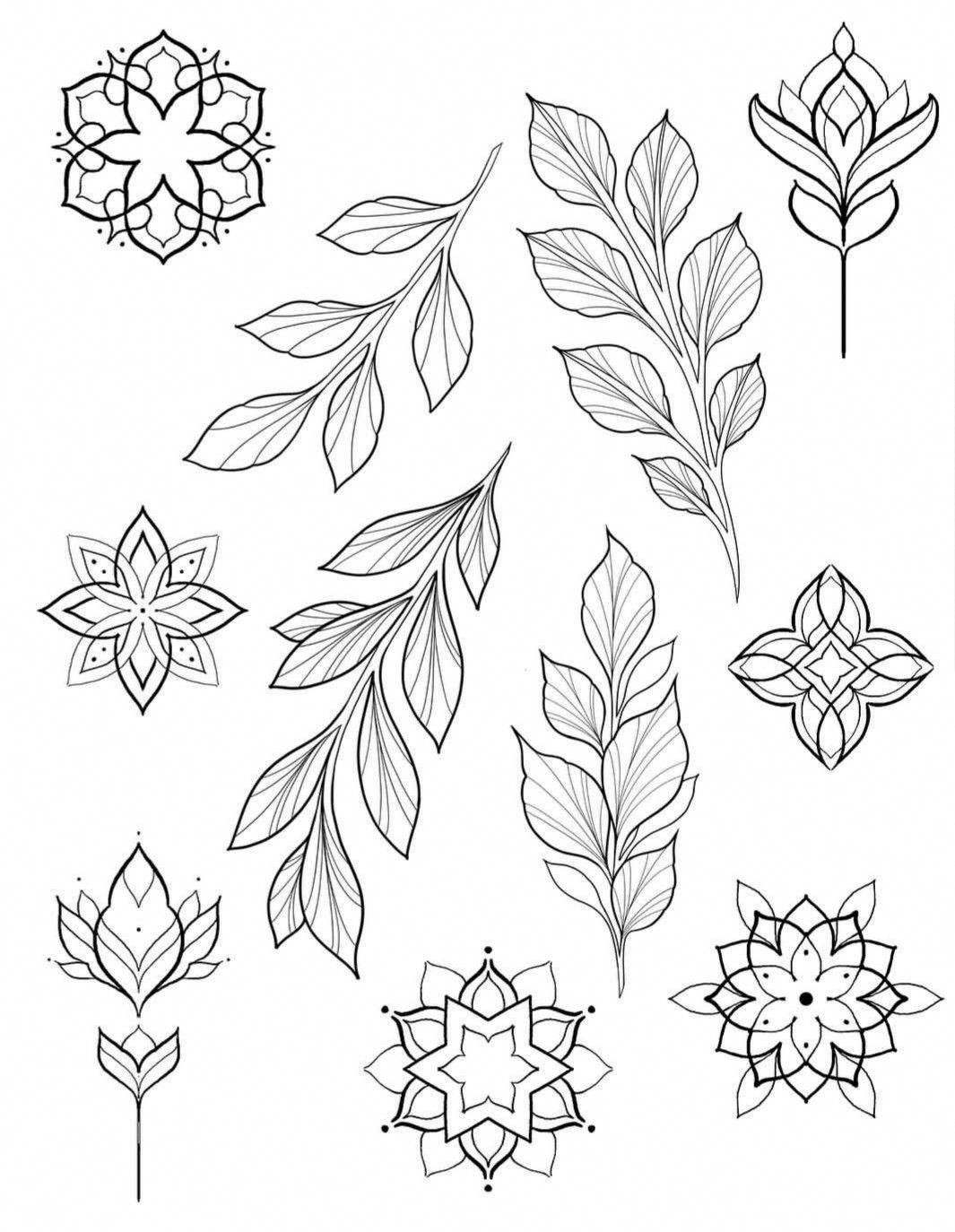 Hand Drawn Leaves For Your Design Isolated 13