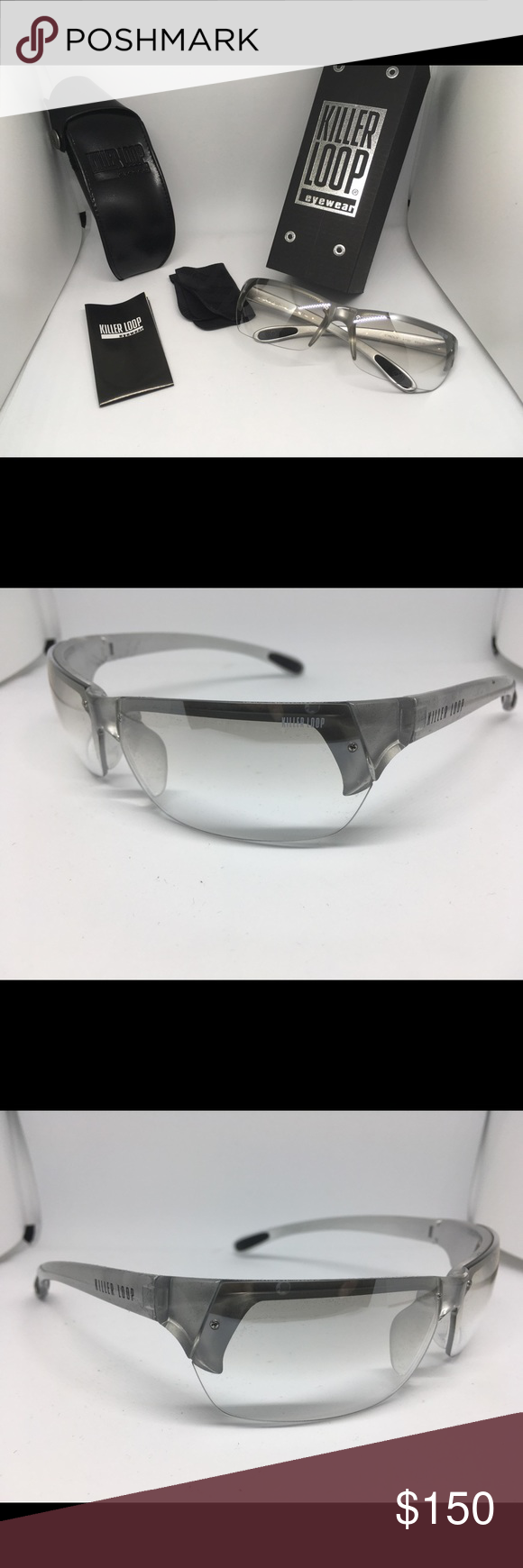 100 /% UV BRAND NEW KILLER LOOP sun glasses with box MADE IN ITALY
