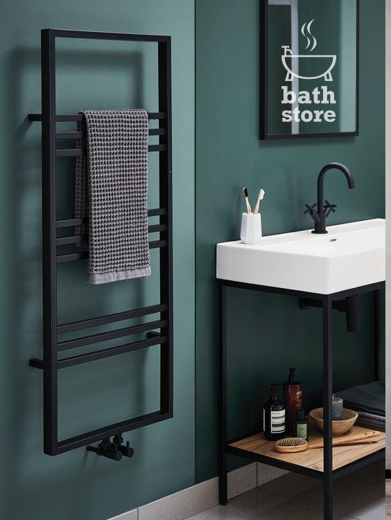 noir 1000mm basin and frame unit  bathstore  industrial