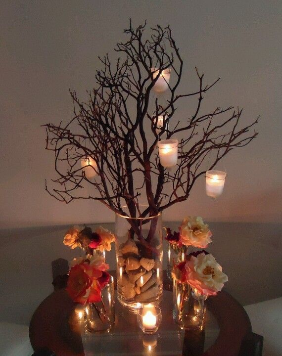 Tree With Candles Fall Centrepieces Weddingbells Tree Branch Centerpieces Branch Centerpieces Branch Centerpieces Wedding