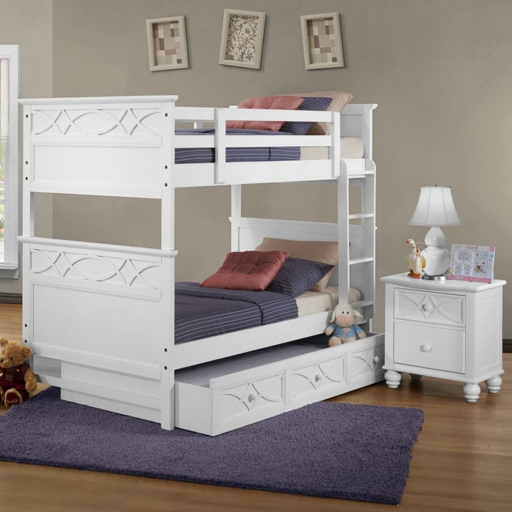 Beauteous Bunk Bed Design Idea For Teen with Gray Wall Paint ...