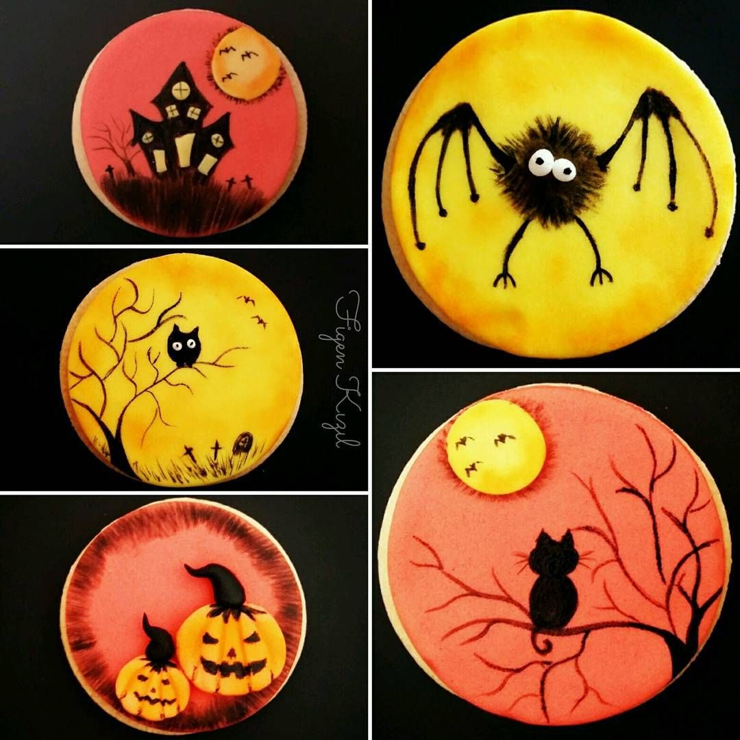 Halloween inspiration for rock paintings #halloweencookiesdecorated