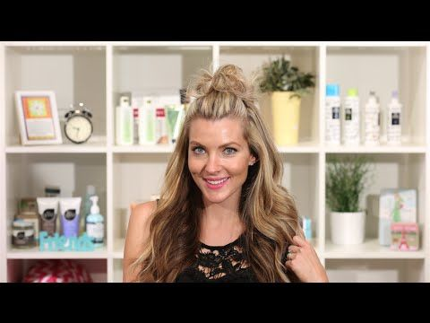 Top Knot Half Up - YouTube