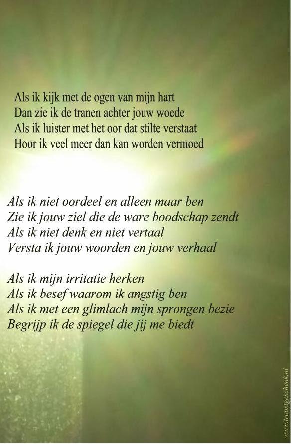 Beroemd Gedicht Als ik kijk met de ogen van mijn hart | teksten  @OT86