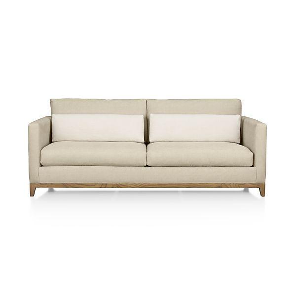 Taraval Apartment Sofa With Oak Base C B 80 Wx39 Dx27 H