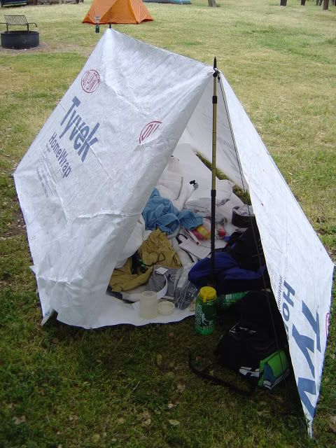 I just came across a cool idea to use the Tyvek product which is utilized in construction envelopes ect. to make ultralight backpacking equipment. & Click this image to show the full-size version. | outdoors ...