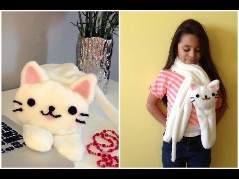 bufanda de gatito FACIL - YouTube | todo al con las manos ...