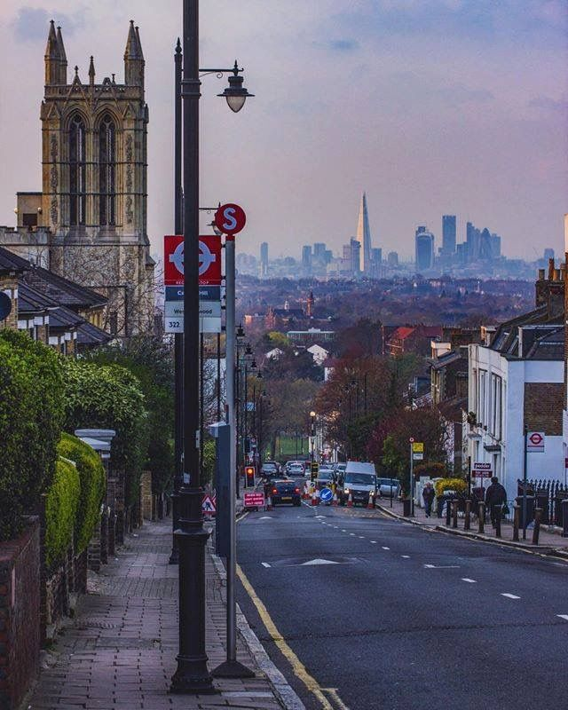 East London: Gipsy Hill Near Crystal Palace South East London England