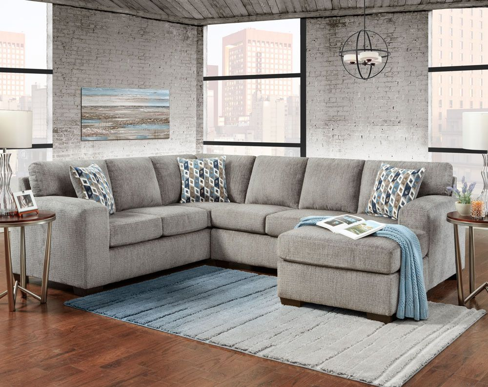 Exceptionnel Silverton Pewter Sectional Sofa   Sectionals   Living Rooms | American  Freight