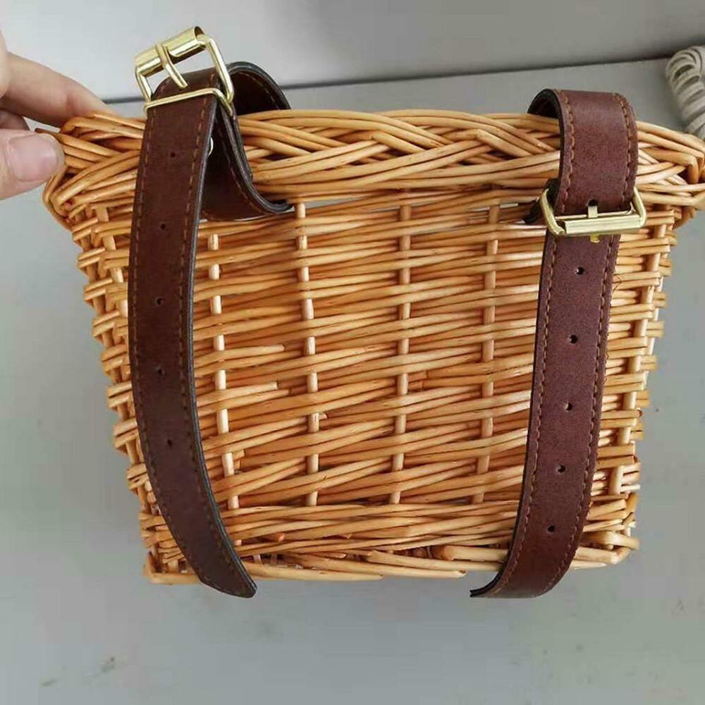 Children/'s Bicycle Basket Bike Storage Bicycle Bags For Children Kids Girl Brown