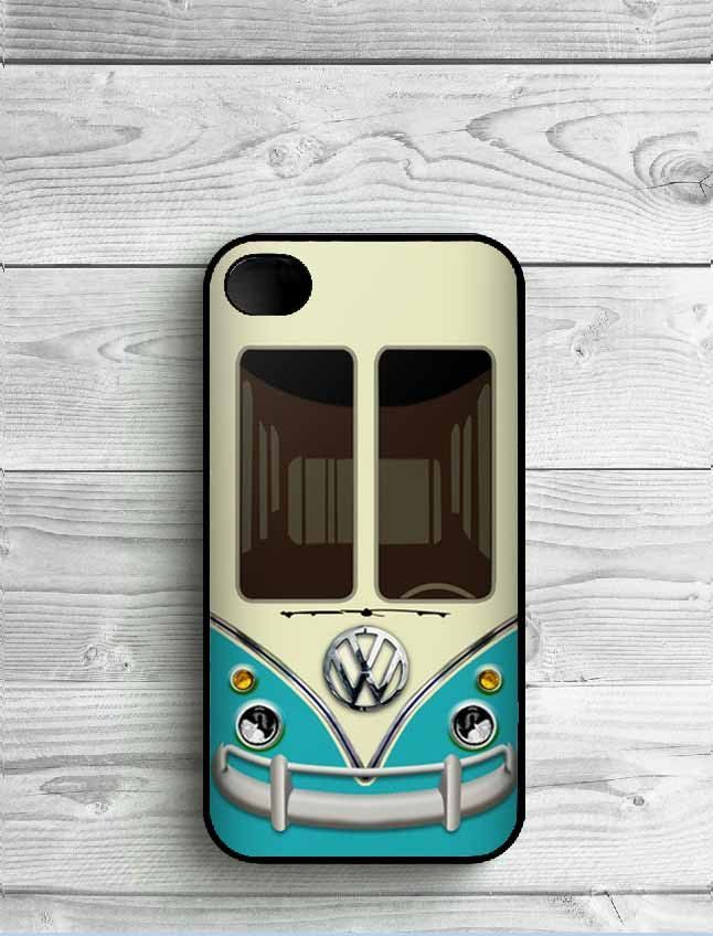 Funny VW Volkswagen Bus Durable Printing Black Plastic Protective Phone Case Cover for iPhone SE 4 4s 5 5s 5c 6 6s 6Plus 7 7Plus