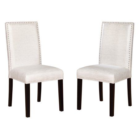 Linon Stewart Dining Chairs Set Of 2 Black Frame 19 Inch Seat Height