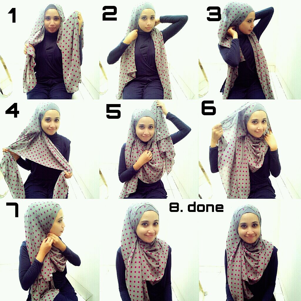 Another Cute Tutorial Hijab Tutorials Pinterest Hijab