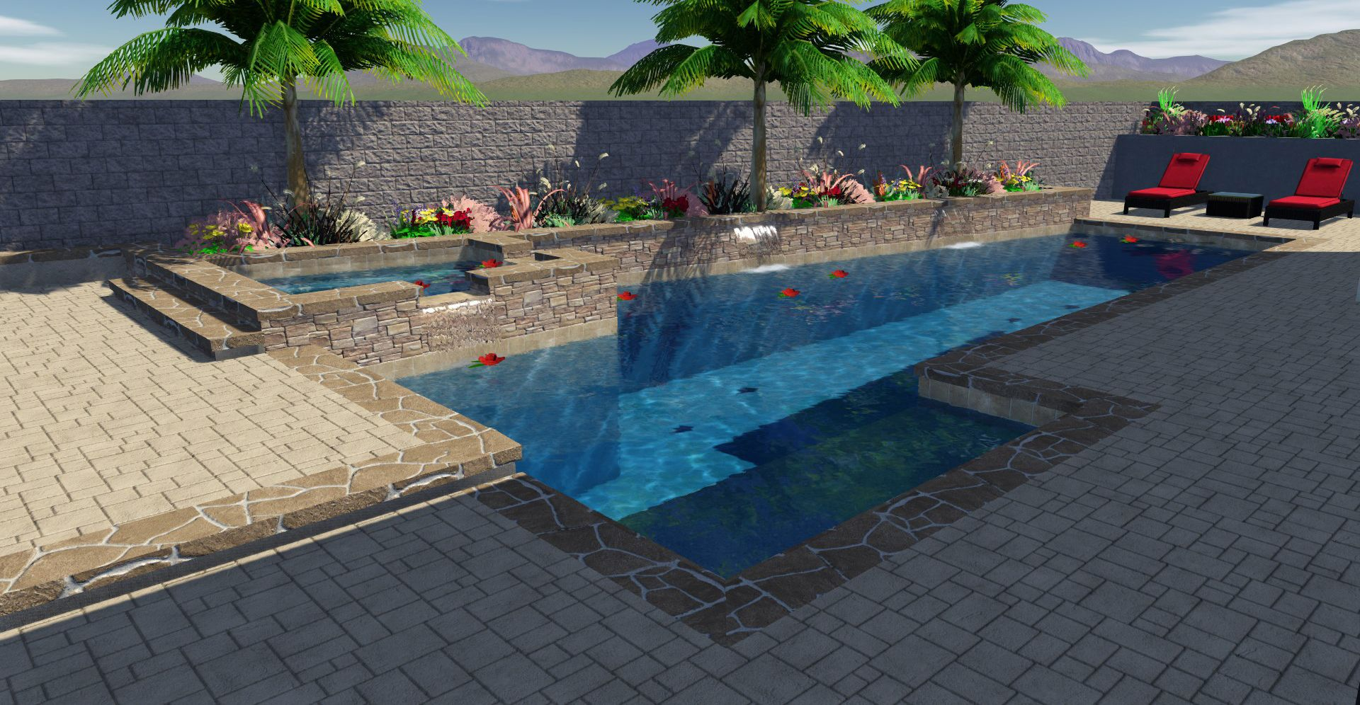 Clear Flo Pools, Inc.   3D, Swimming Pool Makeover, Backyard Oasis,