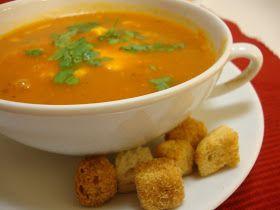 As Minhas Receitas: Sopa de Tomate com Ovo Escalfado