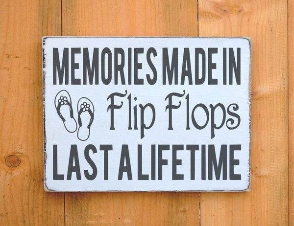835692ec9 rustic flip flops wood sign summer memories quotes beach décor lake house  river wall art pool side outdoor decorationsrustic reclaimed plaque hand  painted