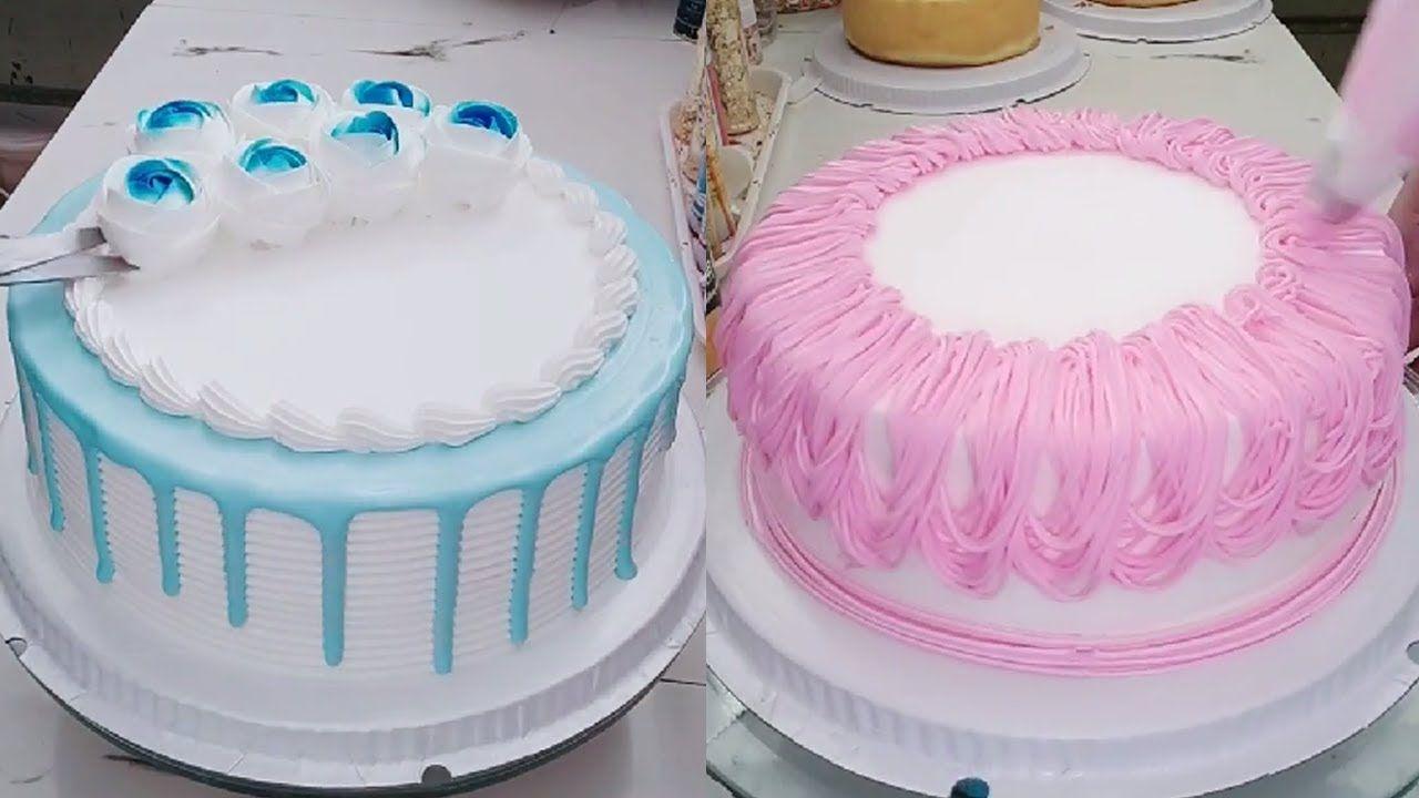 تزيين مجموعة من الكيك بطريقة سهلة للمبتدئات والنتيجة روعه تصاميم ناعمة Cake Birthday Cake Desserts