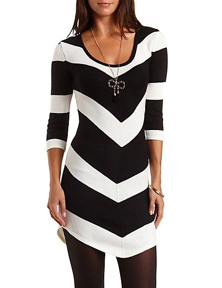 1f42b628284 Chevron Stripe Sweater Dress  Charlotte Russe -  http   AmericasMall.com categories juniors-teens.html