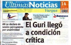 Ultimas Noticias Vargas lunes 14 de marzo de  2016
