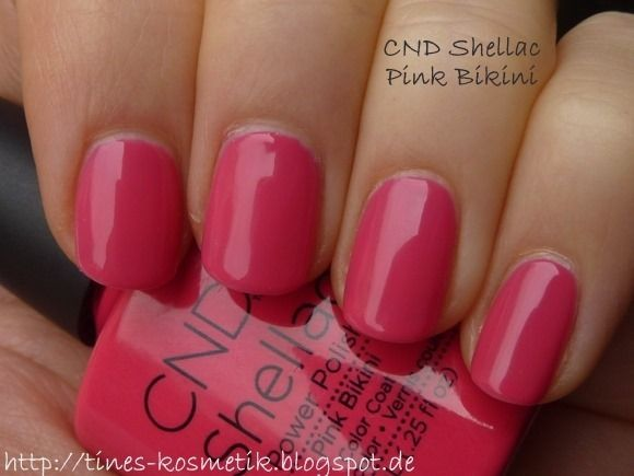 Tines Kosmetikblog Cnd Shellac Pink Bikini Trendige Nagel Rosa Manikure Cnd Shellac Farben