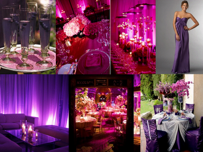 Pink And Purple Themed Wedding