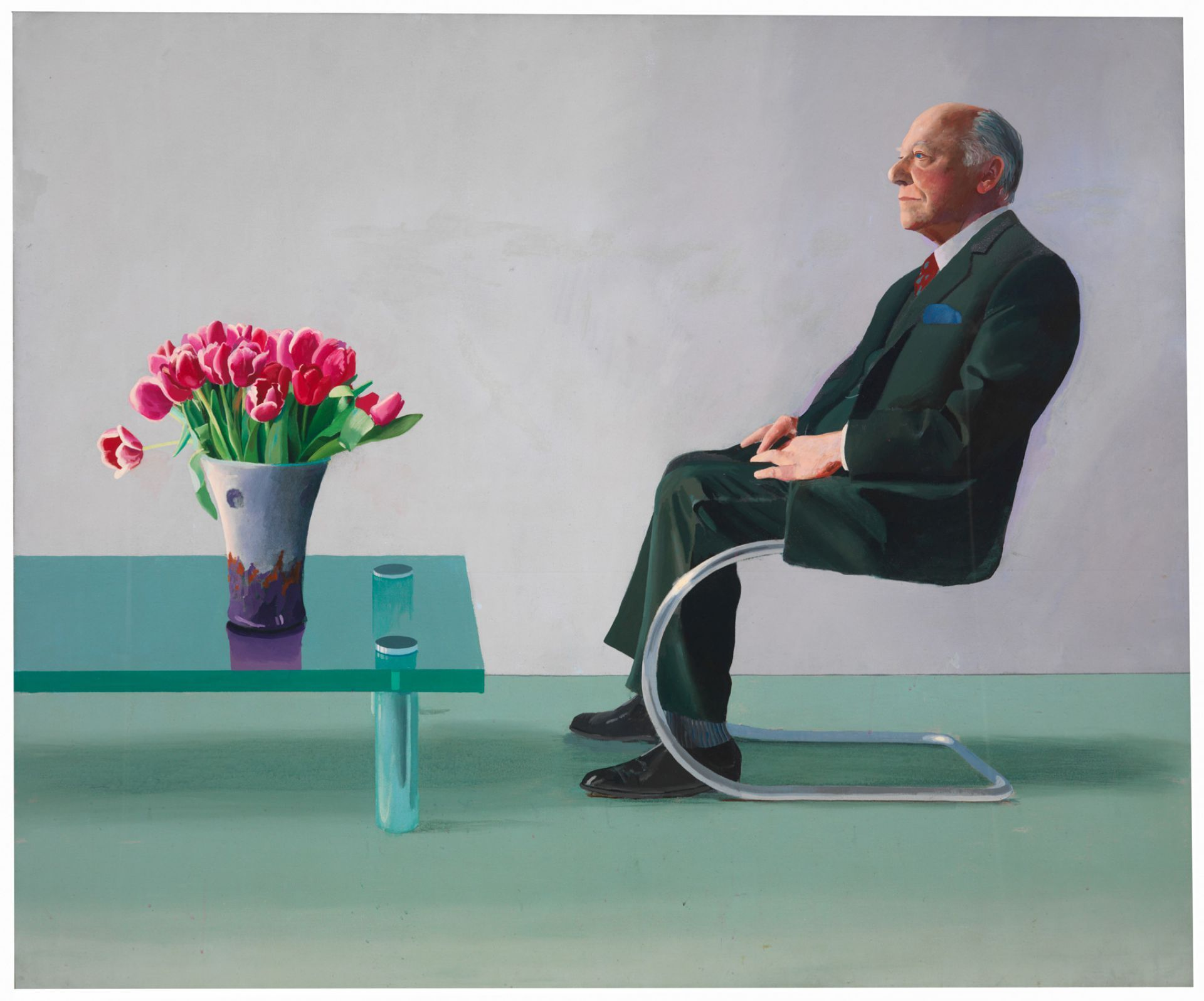 David Hockney s furniture Flamboyant meets plain seems typical