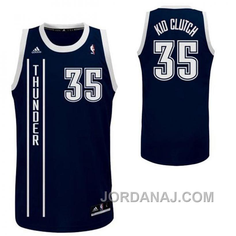 94f49c91c Buy Kevin Durant Oklahoma City Thunder Nickname Kid Clutch Swingman Navy  Blue Jersey from Reliable Kevin Durant Oklahoma City Thunder Nickname Kid  Clutch ...