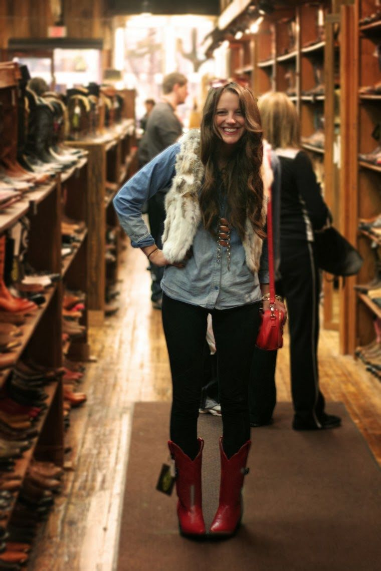 red cowboy boots!