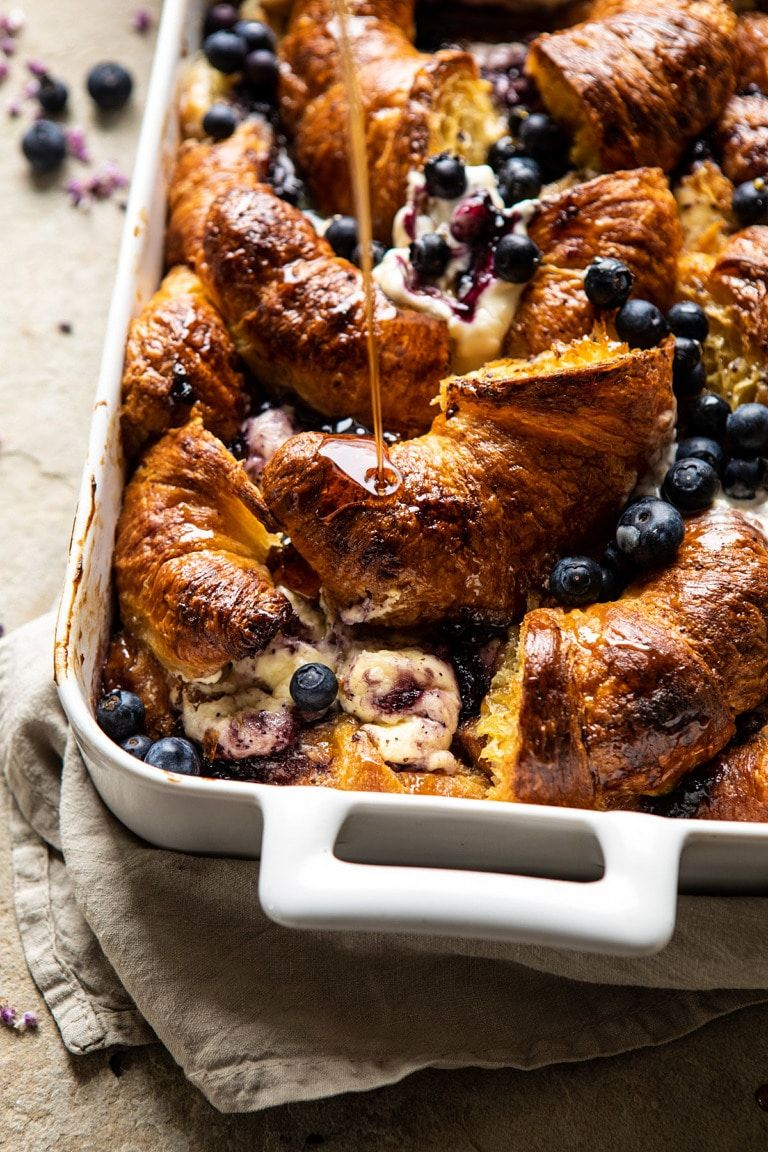 Berry and Cream Cheese Croissant French Toast Bake | halfbakedharvest.com #frenchtoast #brunch #easyrecipes #springrecipes #easter