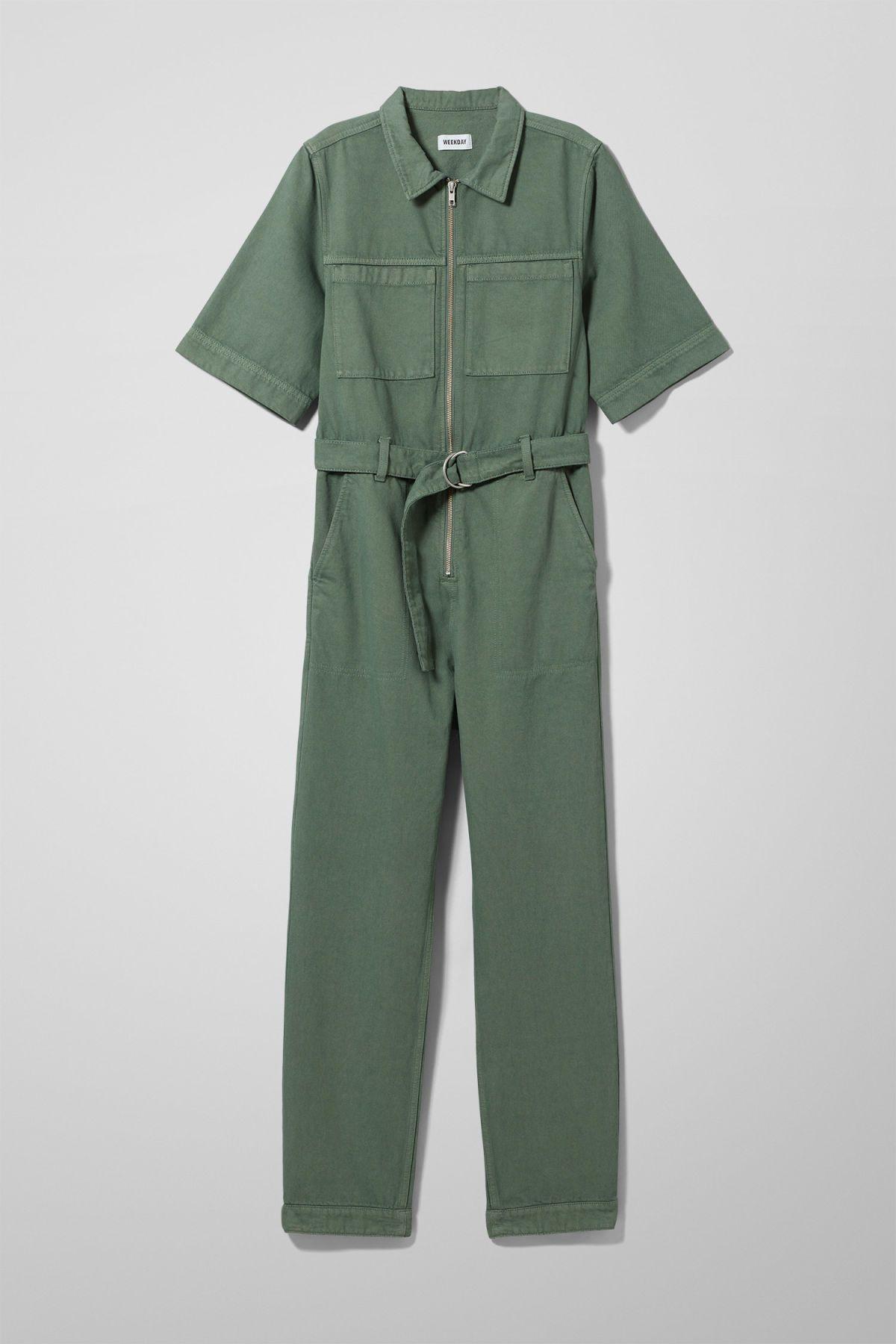 3dd42163467 Petrol Denim Boiler - Green - Dresses   Jumpsuits - Weekday GB in ...