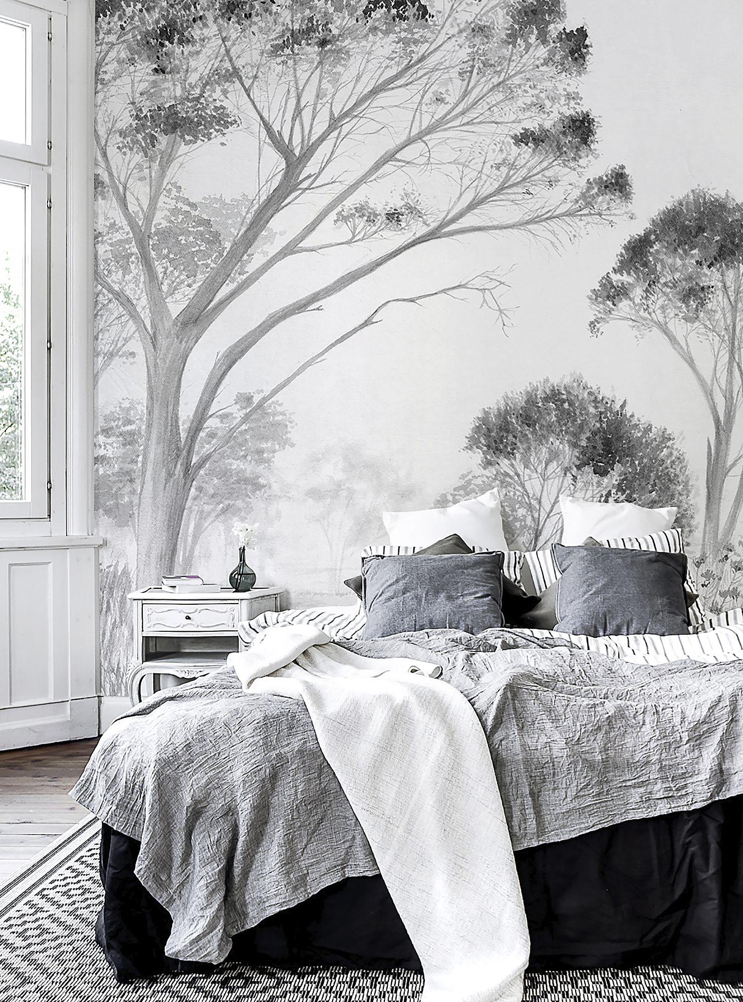 Tree Design Wallpaper Living Room: TREES WHITE Bu Lemon Bring The Elegance Of Nature To Your