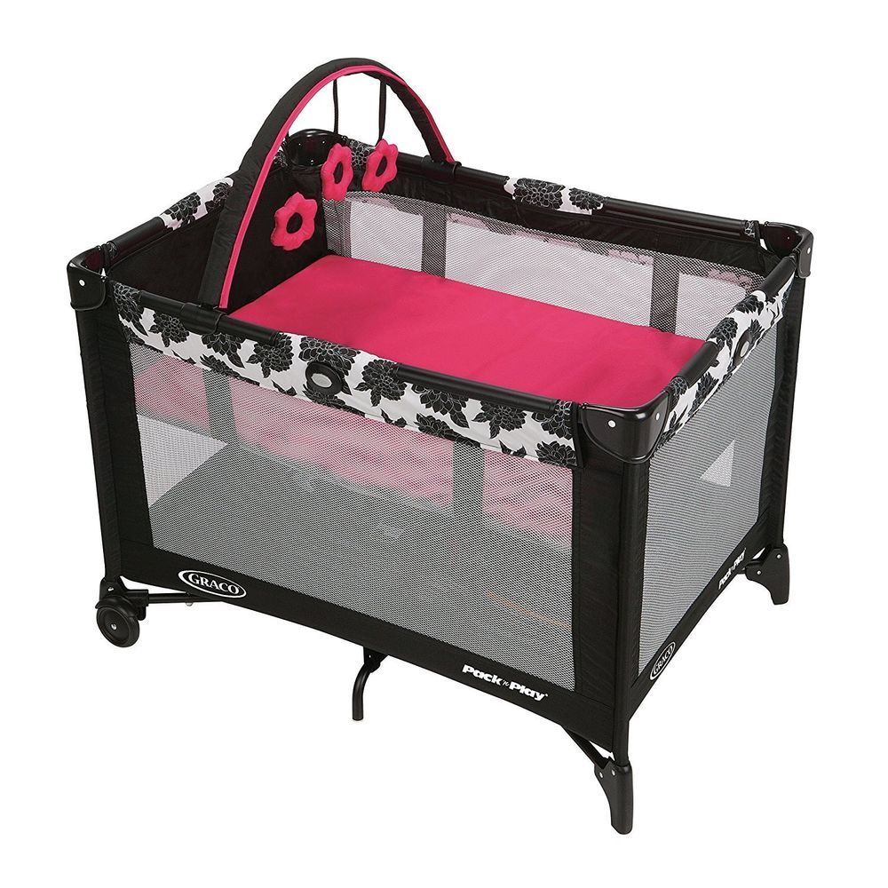 Baby Changing Station Bassinet Portable Nursery Minnie Mouse Play Yard Newborn