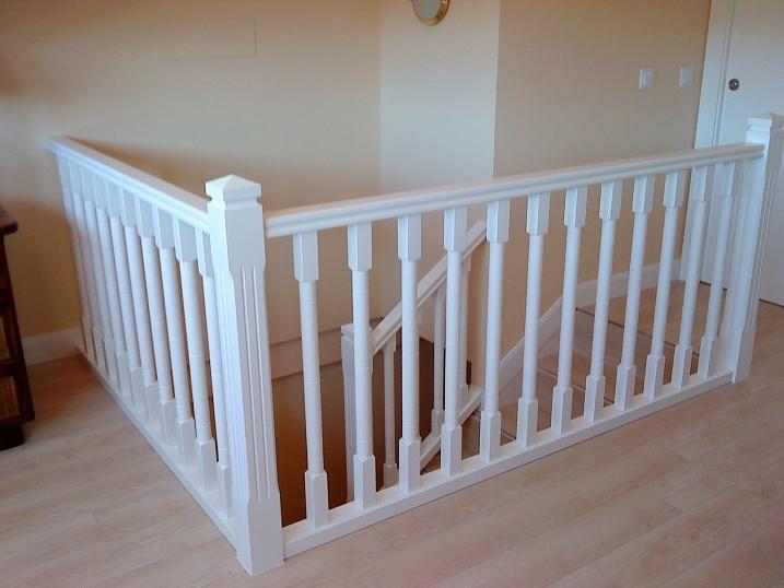 pasamanos de madera blancos para escaleras buscar con google
