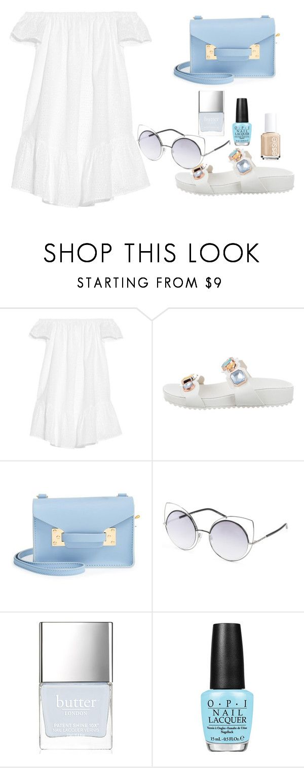 """Untitled #484"" by dream3117 on Polyvore featuring Elizabeth and James, Sophia Webster, Sophie Hulme, Butter London and Essie"