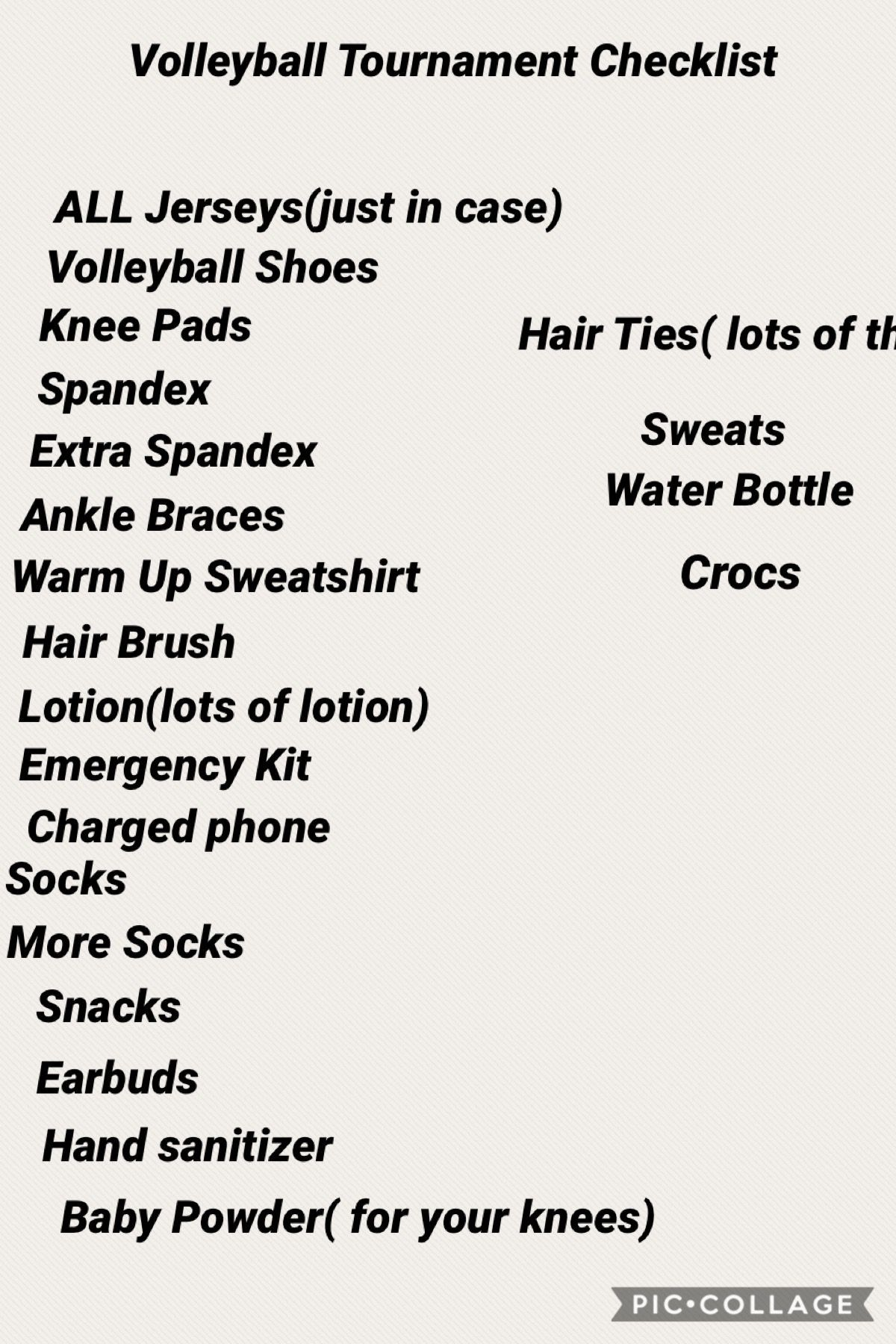 Volleyball Checklist In 2020 Volleyball Tournaments Volleyball Setter Volleyball Workouts