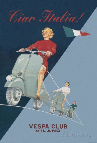 Vespa Scooter Retro Advert Poster Print New