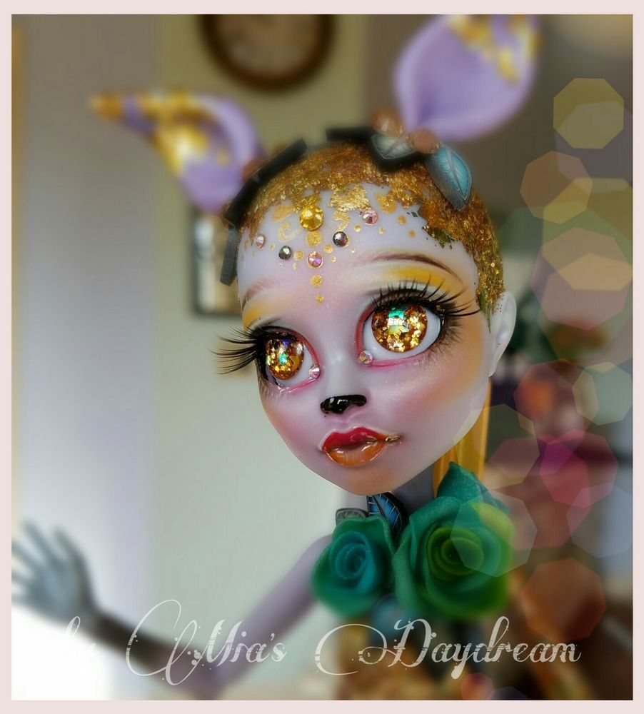 2923004cbab Monster High Doll Repaint OOAK Inserted Eyes 3D Eyelashes by MIA'Sdaydream  | eBay
