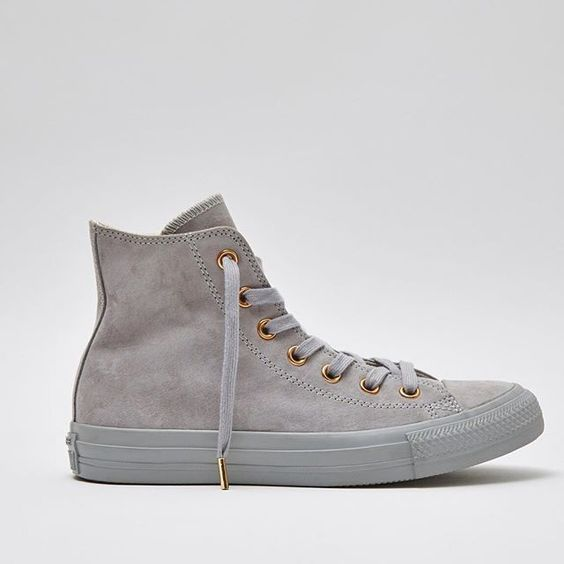 006ff2f8c15 Checkout our new Exclusive Grey Suede  Converse with rose gold detailing.  Dreamy or what  Get yours by searching  Grey Rose gold converse  in the search  bar ...