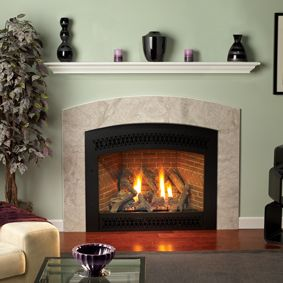 American Hearth Madison Direct Vent Fireplaces Curved Surround