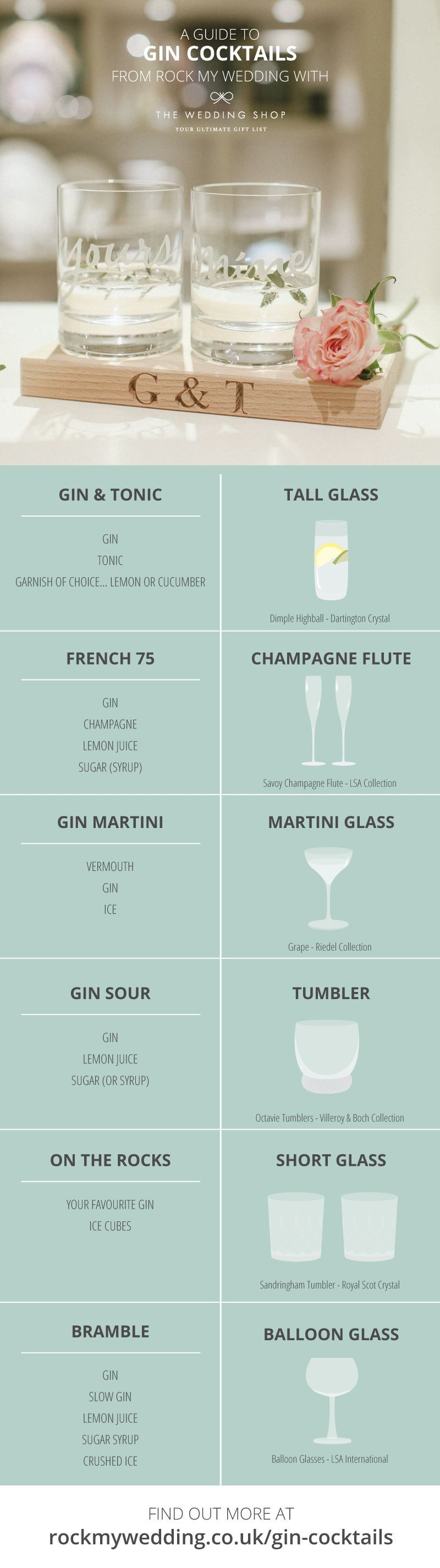 Gin Cocktail Recipes And Why Balloon Glasses Are Best For Serving Gin // The Wedding Shop Exclusive Gift List Partner To Rock My Wedding #bestgincocktails A Guide to Gin Cocktail Glassware with The Wedding Shop | #Gin #Cocktails #Glassware #Tonic #gandt #gift #list #registry #presents #entertaining #balloon #glass #tumbler #champagne #flute #shot #glasses #bestgincocktails