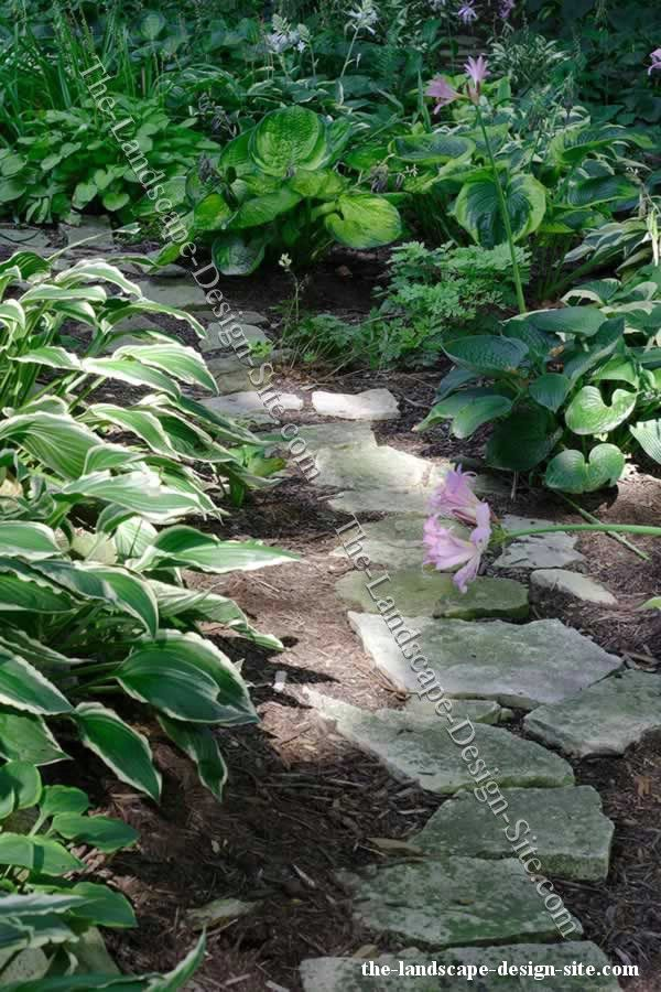 Easy Inexpensive Landscaping Ideas | Natural Random Flagstone Garden Path.