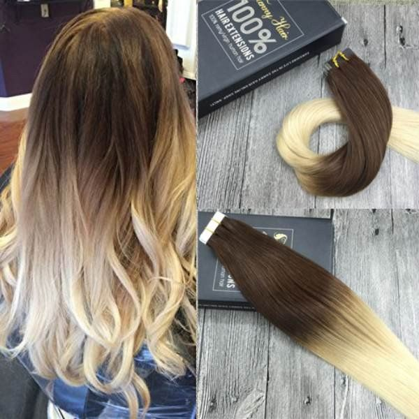 Tape In Ombre Human Hair Extensions 4613 Tape In Hair Extensions
