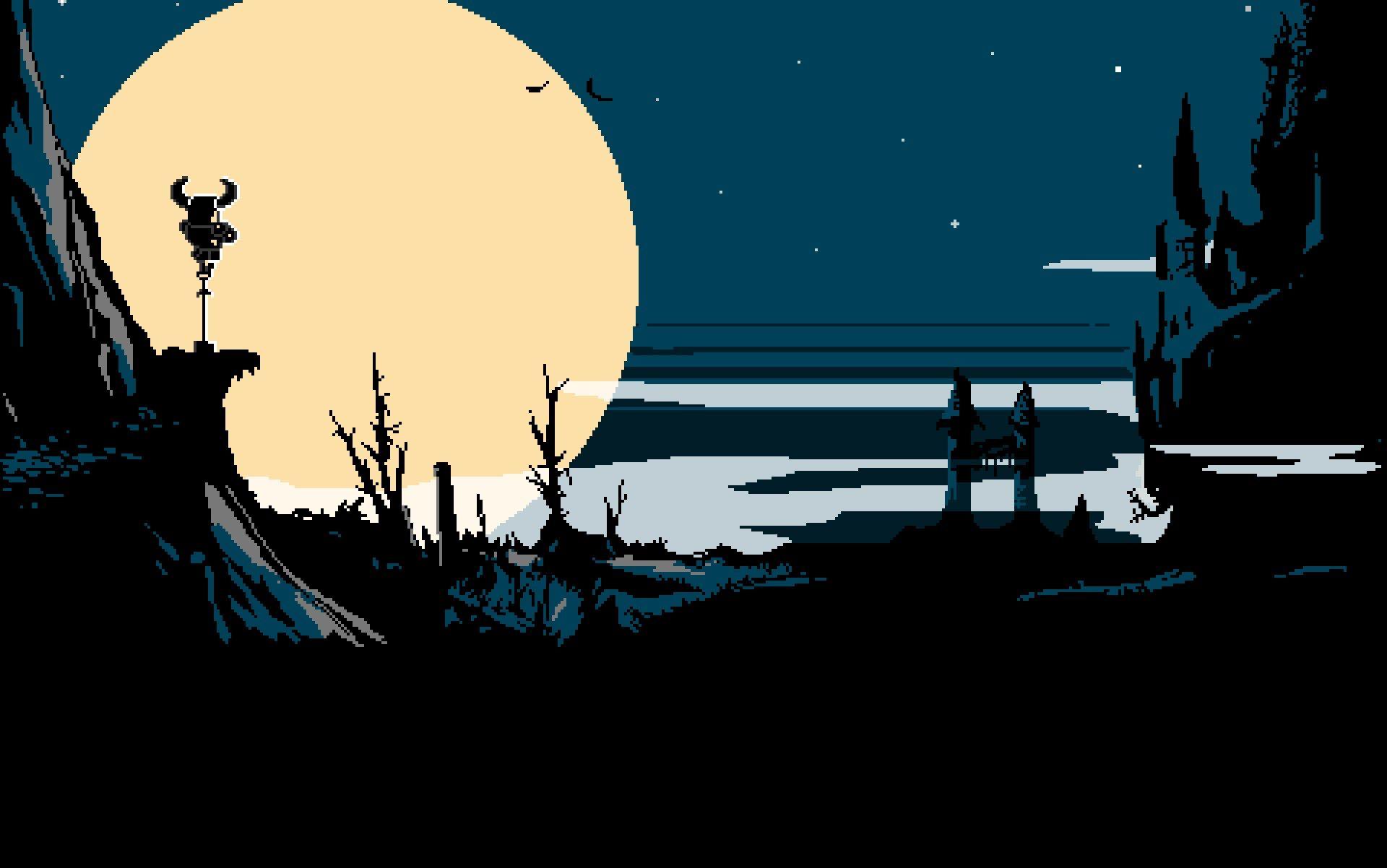 Free Wallpaper And Screensavers For Shovel Knight Pixel Art Shovel Knight Night Painting