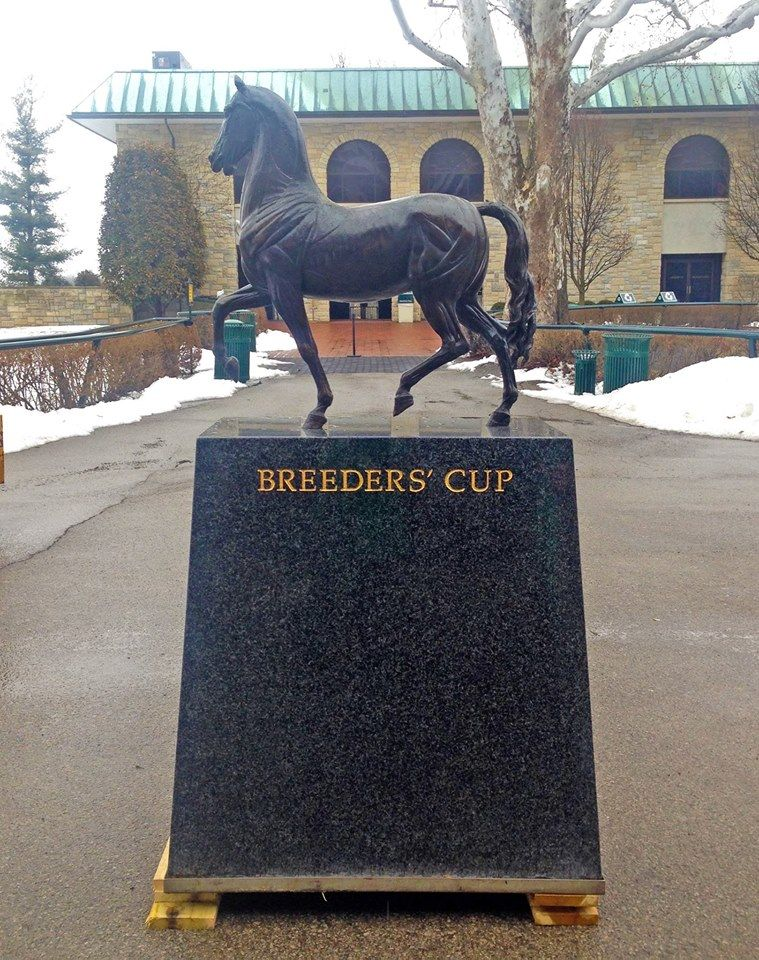 The Breeders' Cup trophy was delivered to the grounds of Keeneland race course in Lexington, KY today. On October 30th and 31st the Breeders' Cup races will be held at…